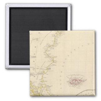 Patagonia, S Shetlands, S Orkneys Square Magnet
