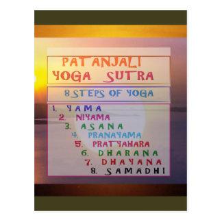 PATANJALI Yoga Meditation Sutra List Postcard
