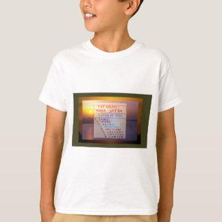 PATANJALI Yoga Meditation Sutra List T-Shirt