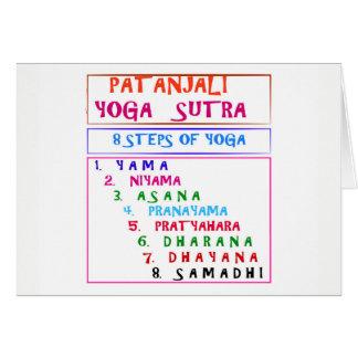 PATANJALI Yoga Sutra Compilation List Card