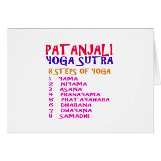 PATANJALI Yoga Sutra Compilation List Greeting Card