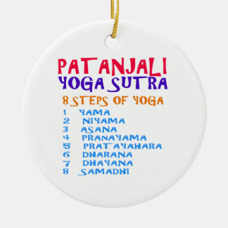 PATANJALI Yoga Sutra Compilation List Round Ceramic Decoration