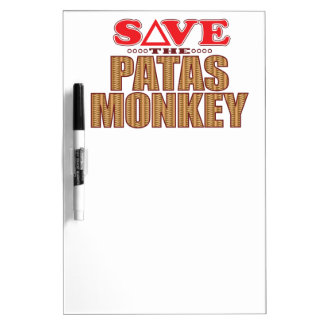 Patas Monkey Save Dry Erase Board
