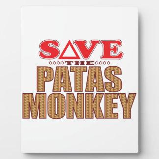 Patas Monkey Save Plaque
