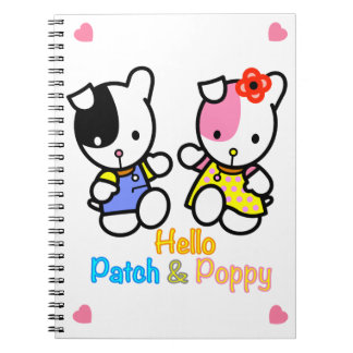 Patch and Poppy Notebook. Spiral Notebook