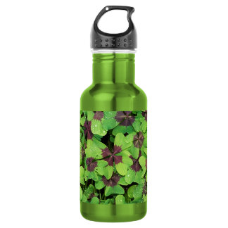 Patch of Four Leaf Clover, (Sorrel, Iron Cross) 532 Ml Water Bottle