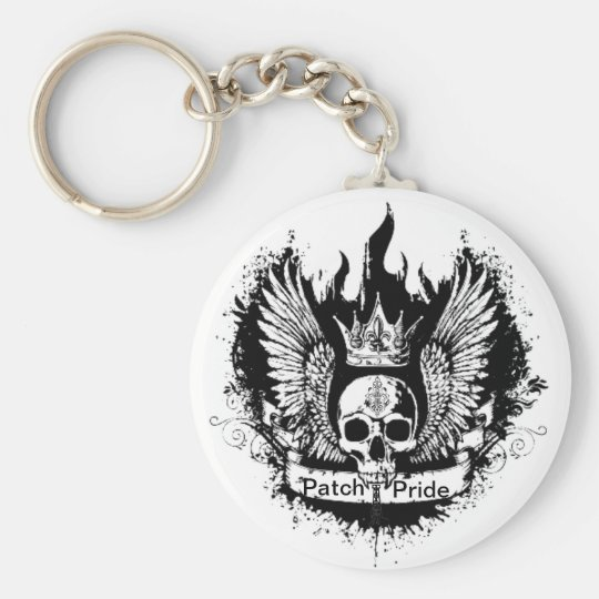Patch Pride Basic Round Button Key Ring