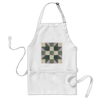 Patch Star Dk Green and Lavender Aprons