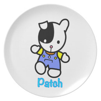 PATCH the puppy melamine plate