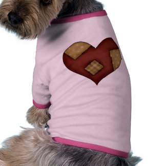 Patched Country Heart Ringer Dog Shirt