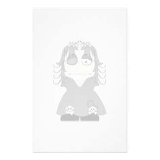 Patched Gothic Princess Customized Stationery