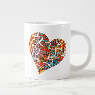 Patched Heart Mug