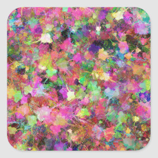 Patches of Paint Square Sticker
