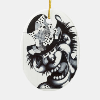 Patches the Clown Ceramic Oval Decoration