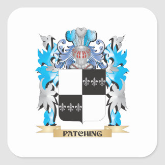 Patching Coat of Arms - Family Crest Square Sticker