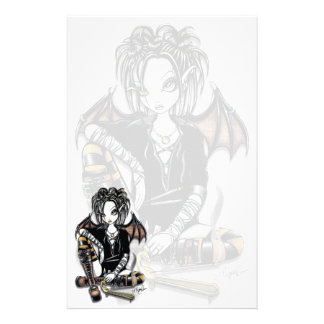 """Patchouli"" Gothic Incense Fairy Art Stationery"