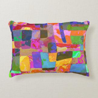 Patchwork autumn colours pillow