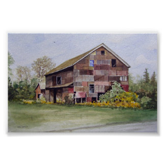 Patchwork Barn-poster