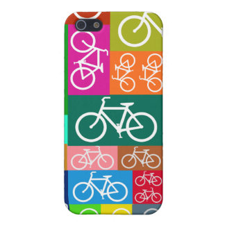 Patchwork Bicycles Art iPhone 5 Covers