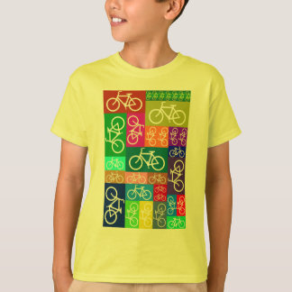 Patchwork Bicycles Art T-Shirt