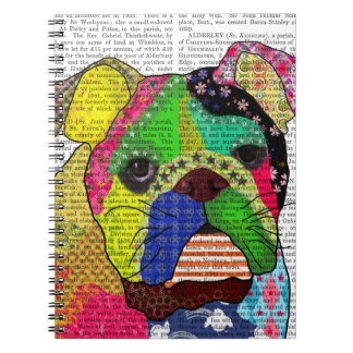 Patchwork Bulldog Note Books