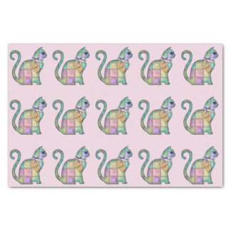 patchwork cat tissue paper