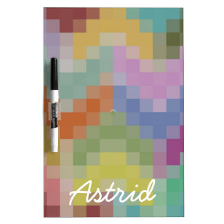 Patchwork Chevrons Personalized Dry Erase Board