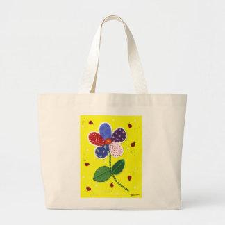 Patchwork Daisy Jumbo Tote Bag