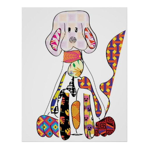 Patchwork Doggy Poster
