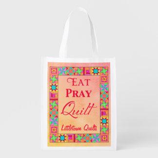 Patchwork Eat Pray Quilt Business Promotion
