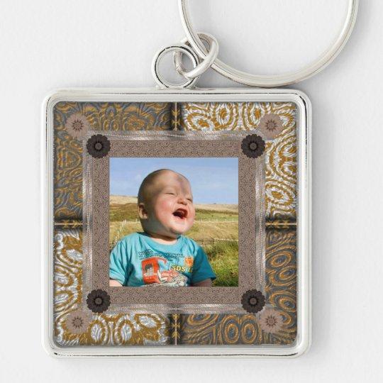 Patchwork Enthusiast Photo Frame Key Ring