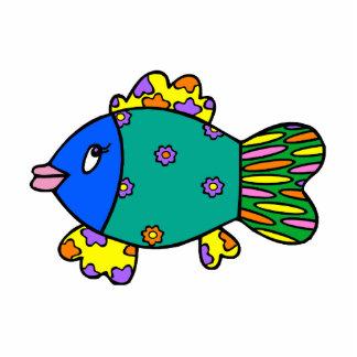 Patchwork Fish Standing Photo Sculpture