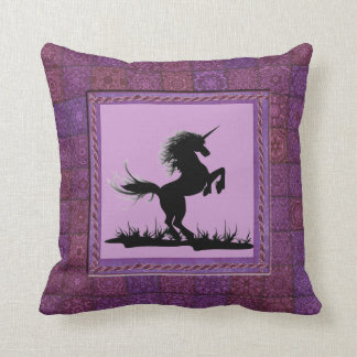 Patchwork Frame Unicorn Pillow