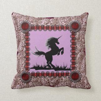 Patchwork Frame Unicorn Pillow Cushion