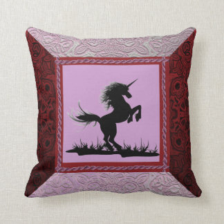 Patchwork Frame Unicorn Pillow Cushion