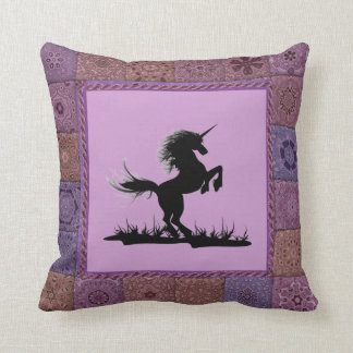 Patchwork Frame Unicorn Pillow Cushions