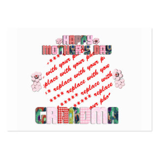 Patchwork Grandma Mother s Day Photo Frame Business Card