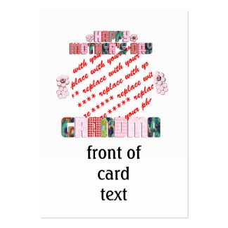 Patchwork 'Grandma' Mother's Day Photo Frame Pack Of Chubby Business Cards