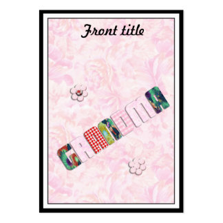 Patchwork 'Grandma' On Pink Roses Pack Of Chubby Business Cards