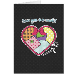 Patchwork Heart - Love you sew much! Card
