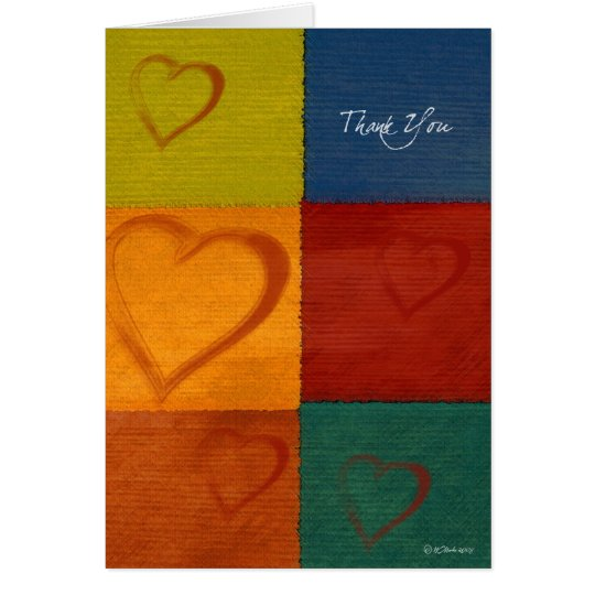 Patchwork Hearts-ThankYou Card