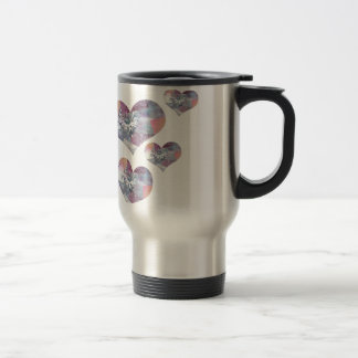 Patchwork Hearts Travel Mug