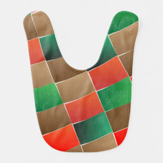 Patchwork Holiday Baby Bib