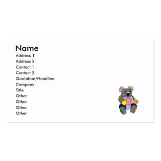 Patchwork Koala Pack Of Standard Business Cards