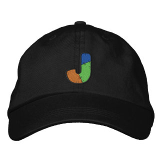 Patchwork Letter J Embroidered Hat