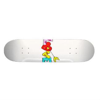 patchwork love with arrow design skateboards