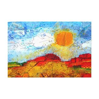Patchwork Mesa Canvas Print