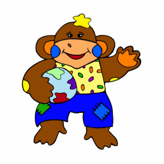 Patchwork Monkey Photo Cut Out