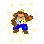Patchwork Monkey Post Card