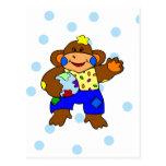 Patchwork Monkey Postcard